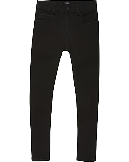 Boys black spray on skinny jeans