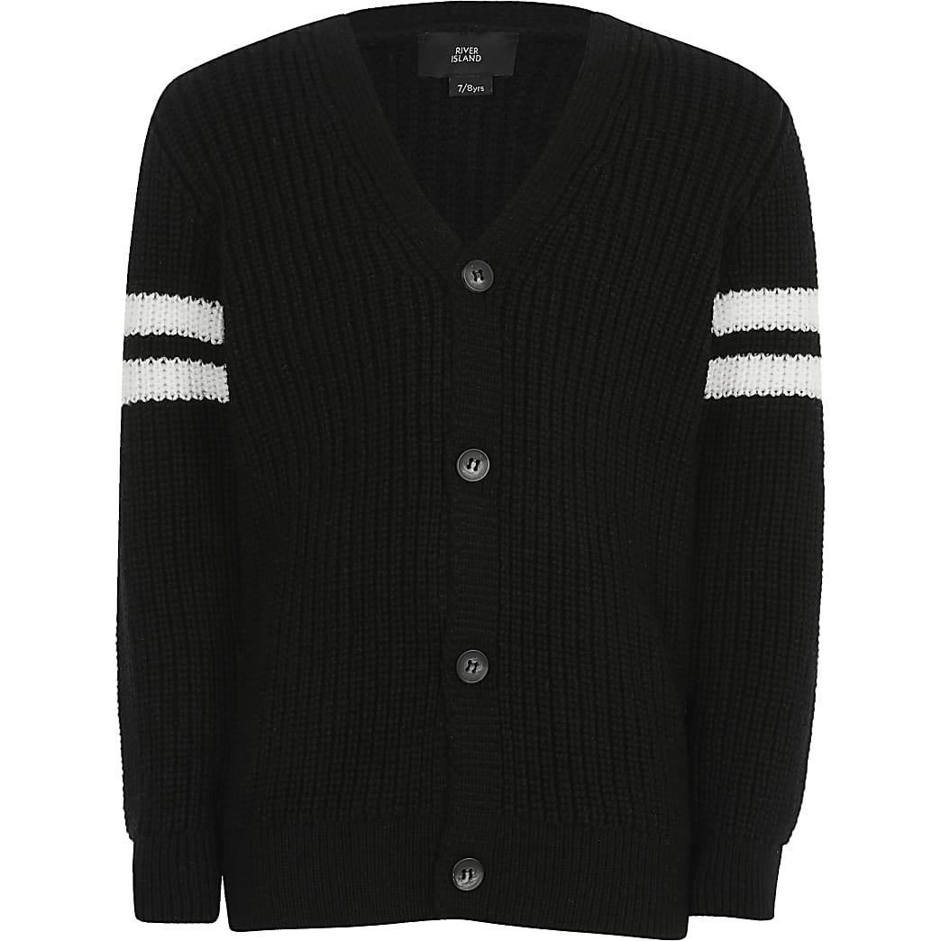 Nautica Boys Textured Block Stripe Full Zip Sweater Cardigan Sweater