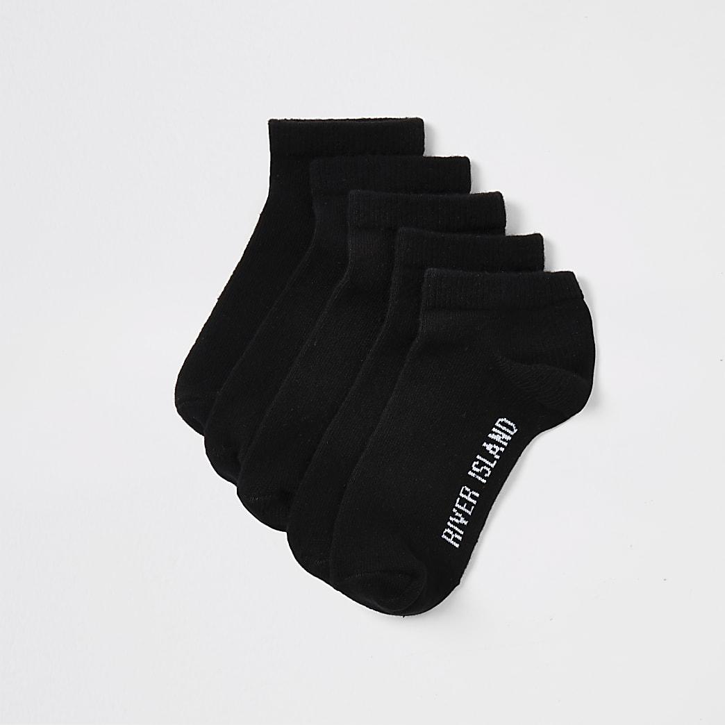 Multipack zwarte sportsokken voor jongens