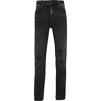 Boys black wash regular slim jean