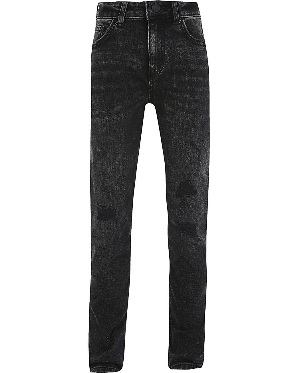 Boys black wash regular slim jeans