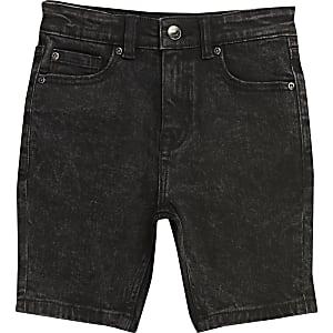 Sid ‒ Short skinny délavage noir pour garçon