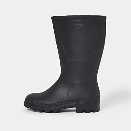 Boys black welly boots