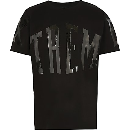 Boys black Xtreme gloss print t-shirt