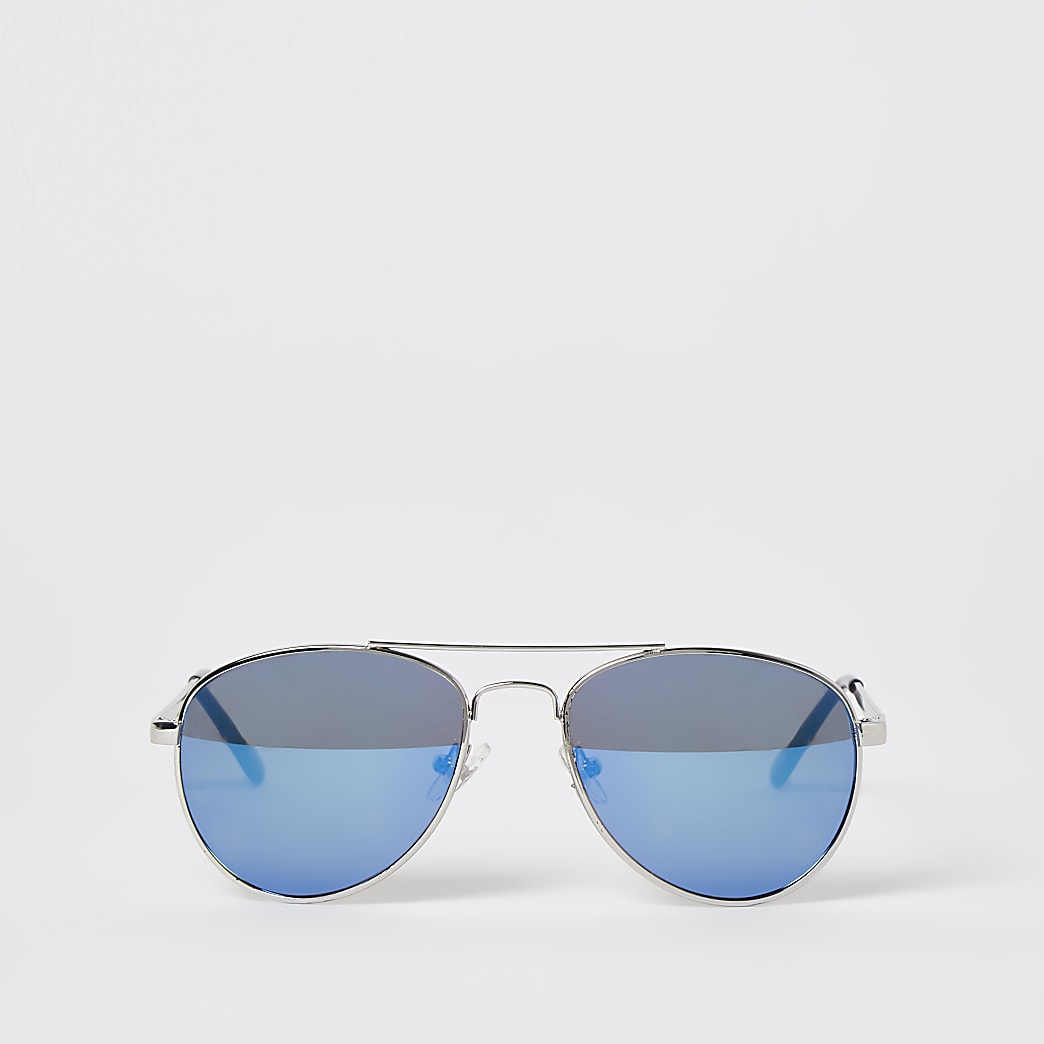 Boys blue aviator sunglasses