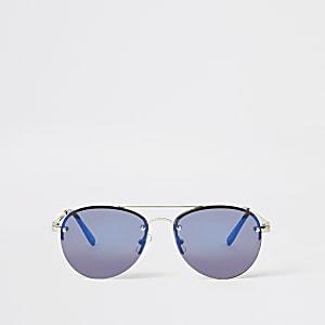 Lunettes de soleil aviateur bleues pour garçon