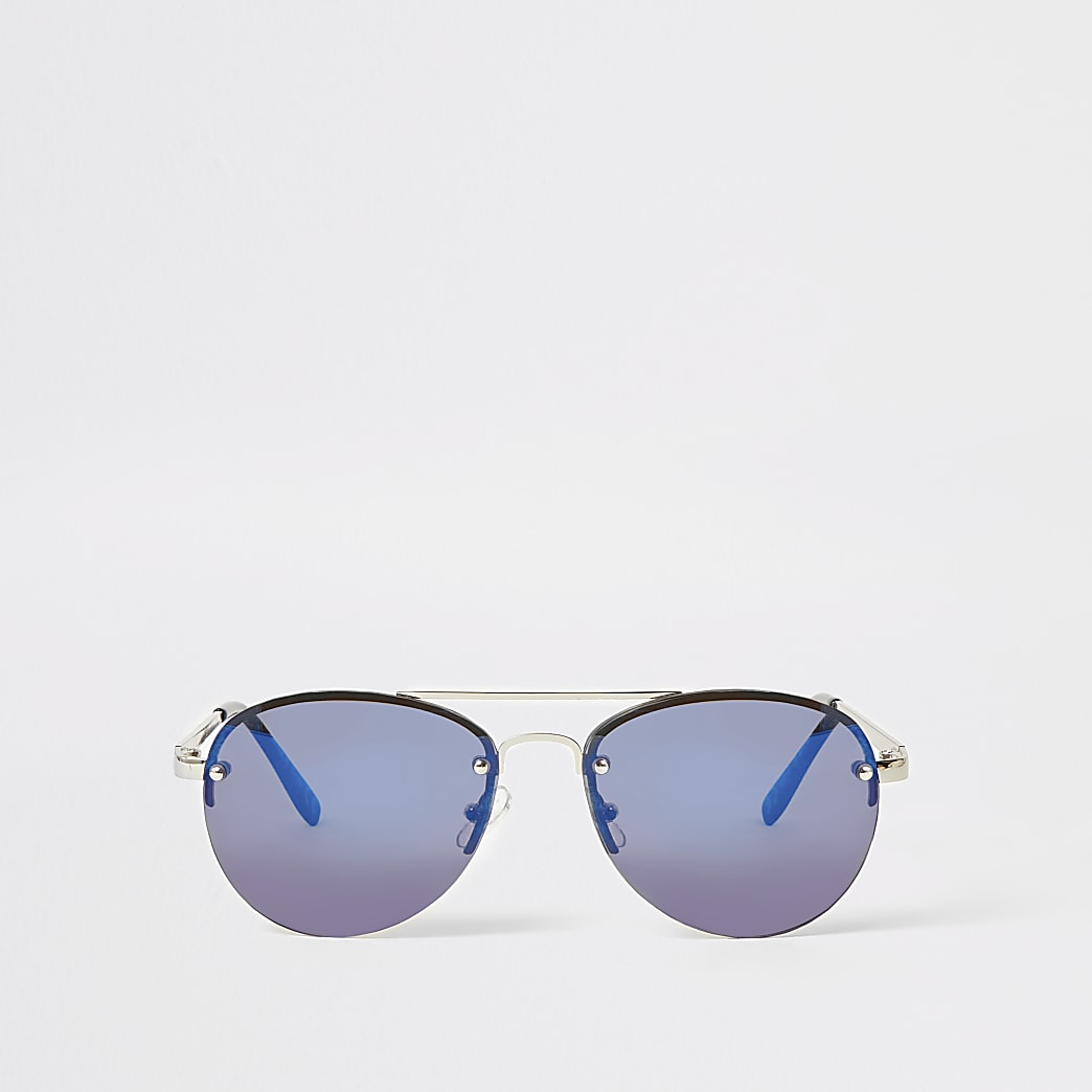 Blauwe pilotenzonnebril voor jongens