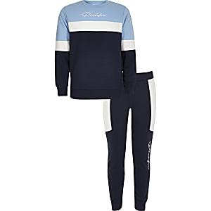 """Sweatshirt Outfit""""Prolific"""" in blauen Blockfarben für Jungen"""