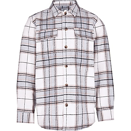 Boys blue check shirt