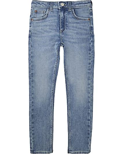 Boys blue comfort skinny fit jeans