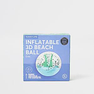 Boys blue crocodile beach ball