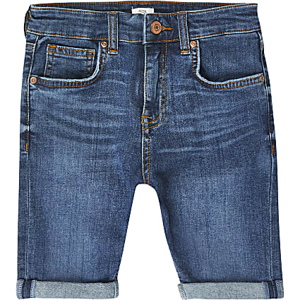 Boys blue Dylan slim fit shorts