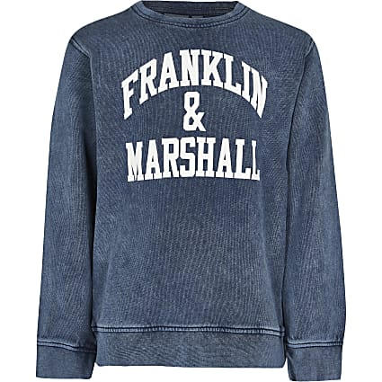Boys blue Franklin & Marshall sweatshirt