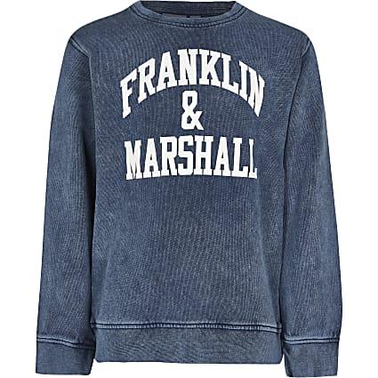Boys blue Franklin & Marshall sweatshirt