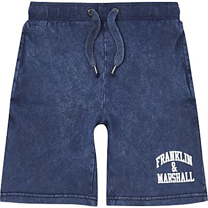 Boys blue Franklin and Marshall shorts