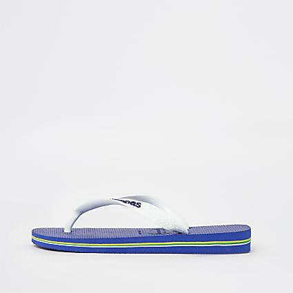 Boys blue Havaianas flip flops