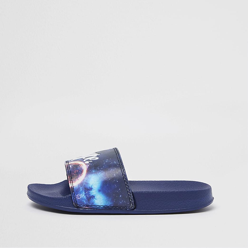 Boys blue Hype camo slider