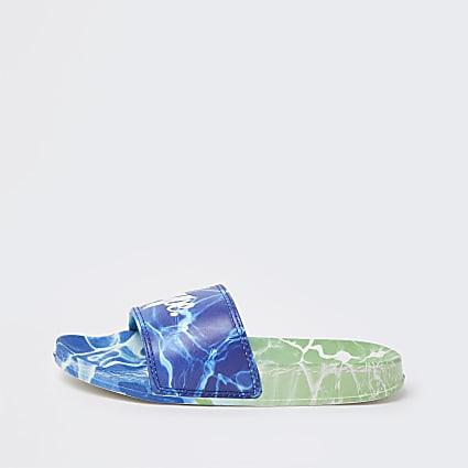 Boys blue Hype pool sliders