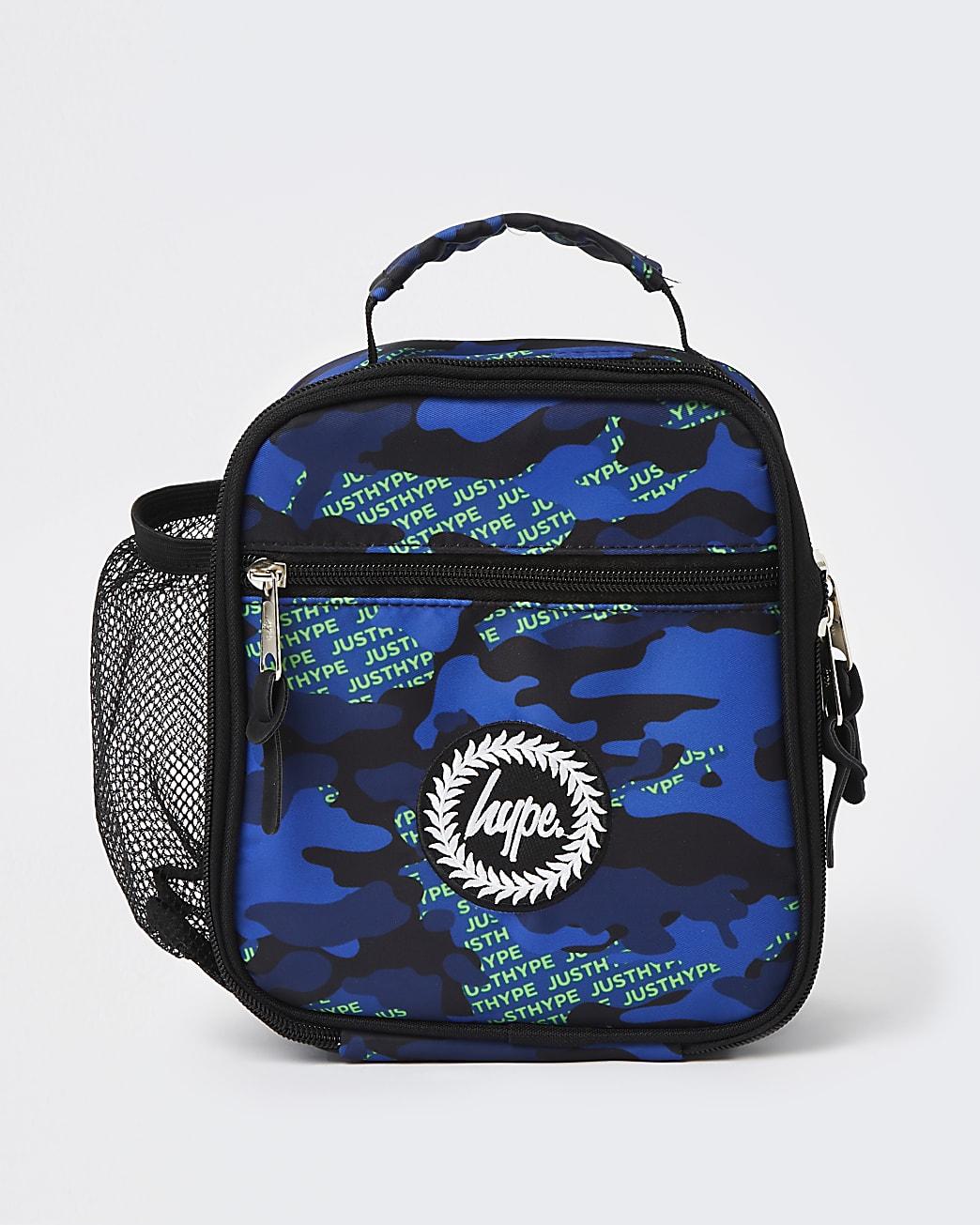 Boys blue Hype space print lunch box