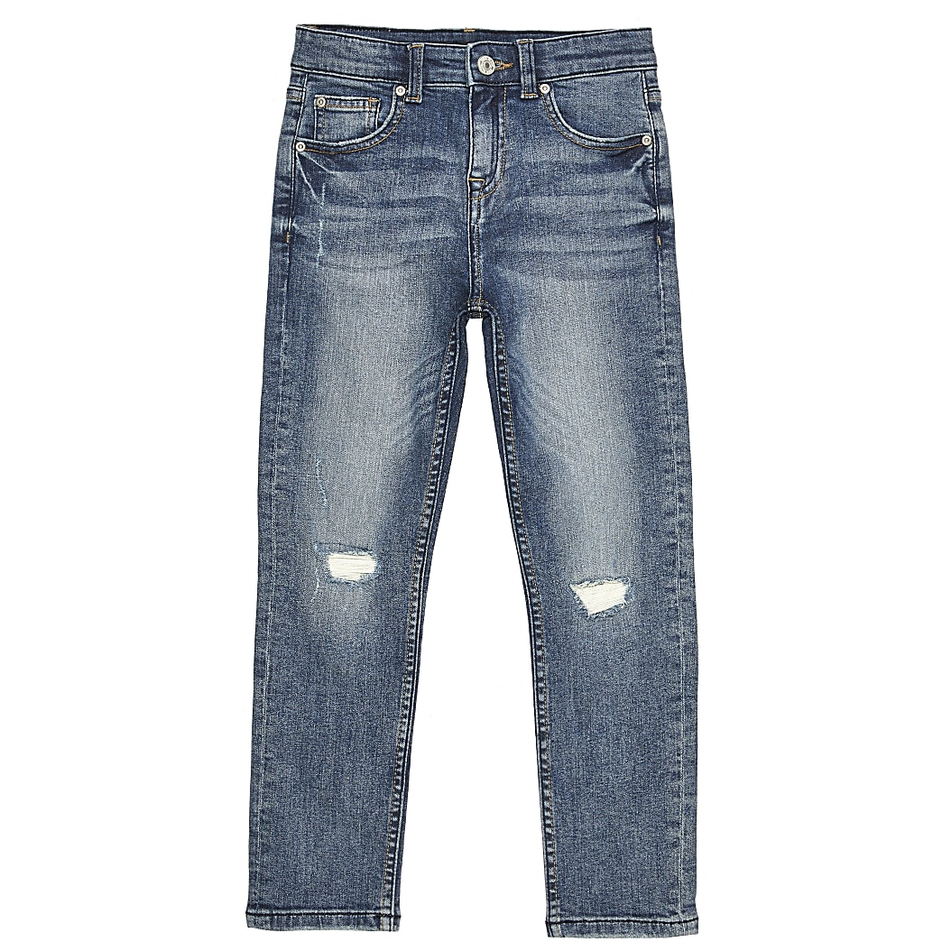 Boys blue jake mole wash jean