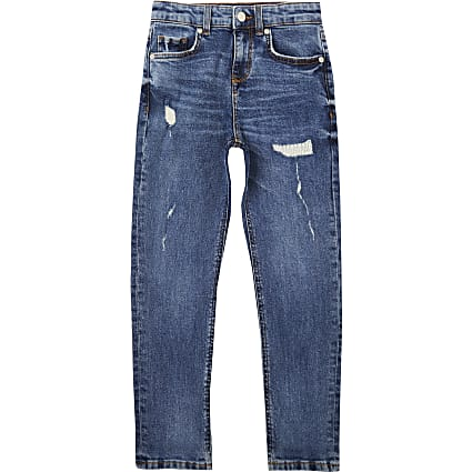 Boys blue Jake ripped regular slim fit jeans