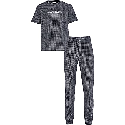Boys blue 'Maision Riviera' t-shirt outfit