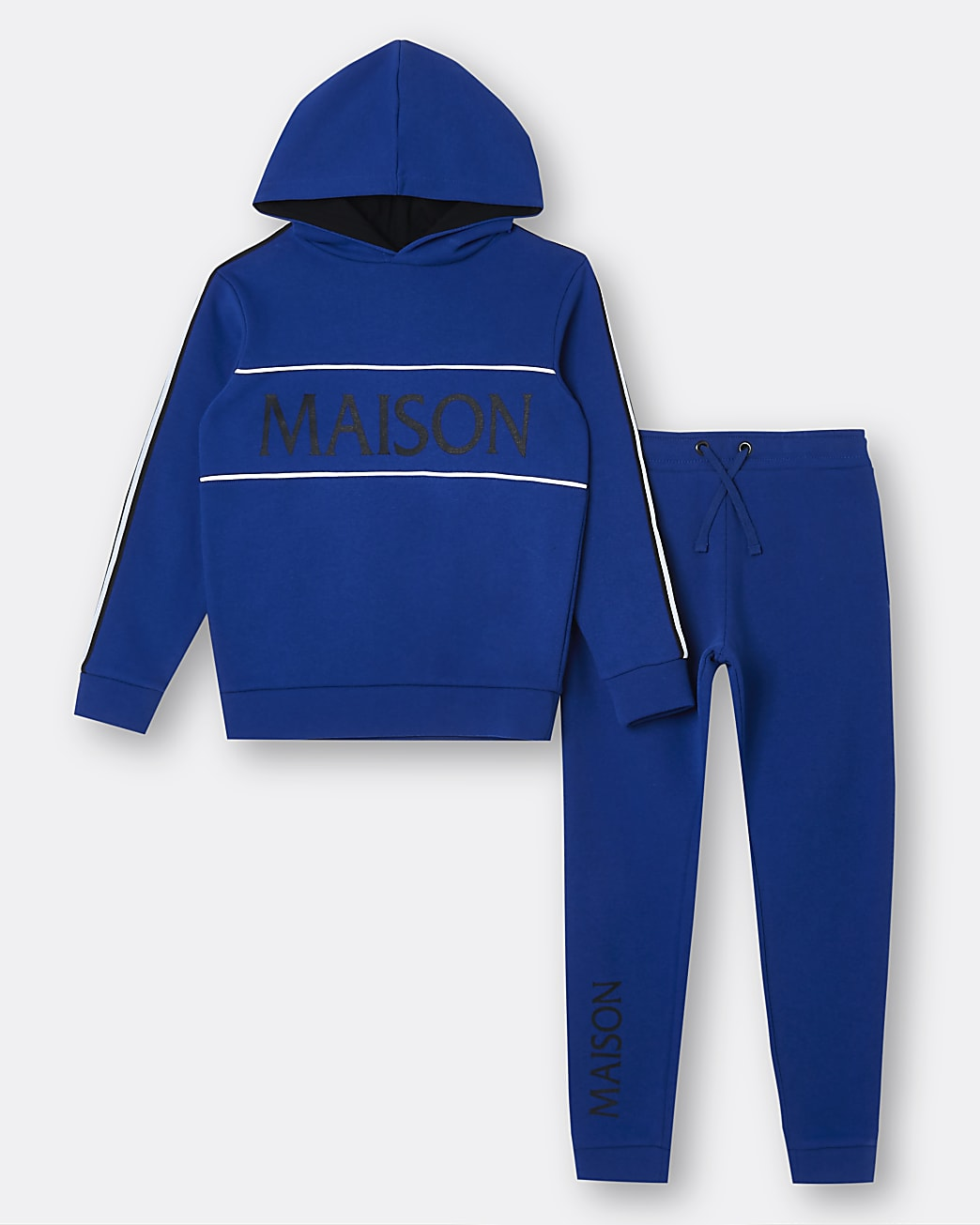 Boys blue Maison Riviera hoodie and joggers