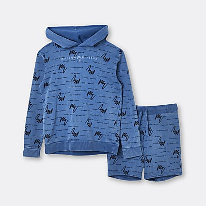 Boys blue Maison Riviera hoodie outfit