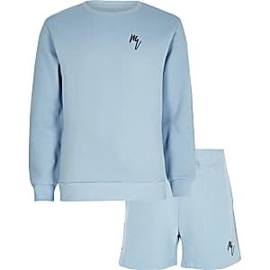 Maison Riviera - Blauwe sweater outfit voor jongens