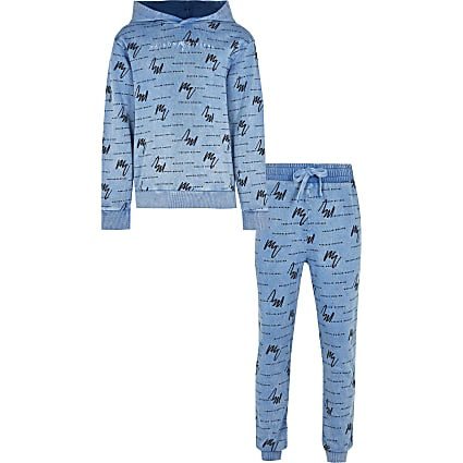 Boys blue Maison washed hoodie outfit