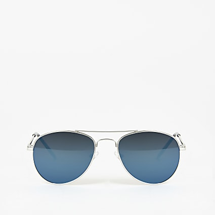 Boys blue mirrored aviator sunglasses