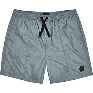 Blauwe nylon short voor jongens