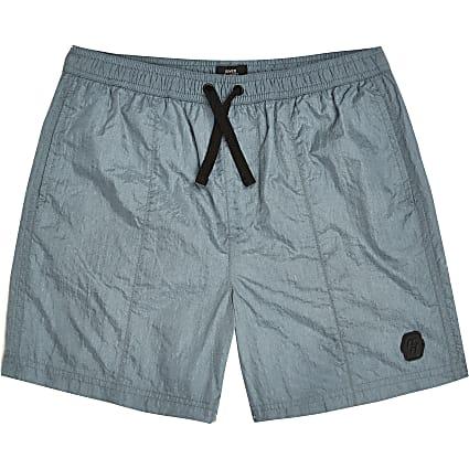 Boys blue nylon shorts