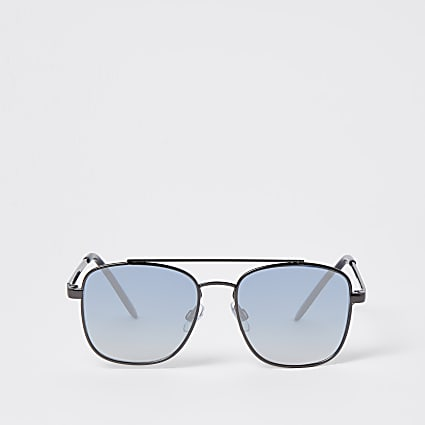 Boys blue ombre aviator sunglasses