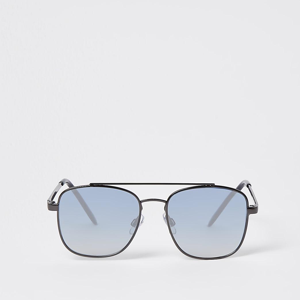 Boys blue ombre aviator sunglasses