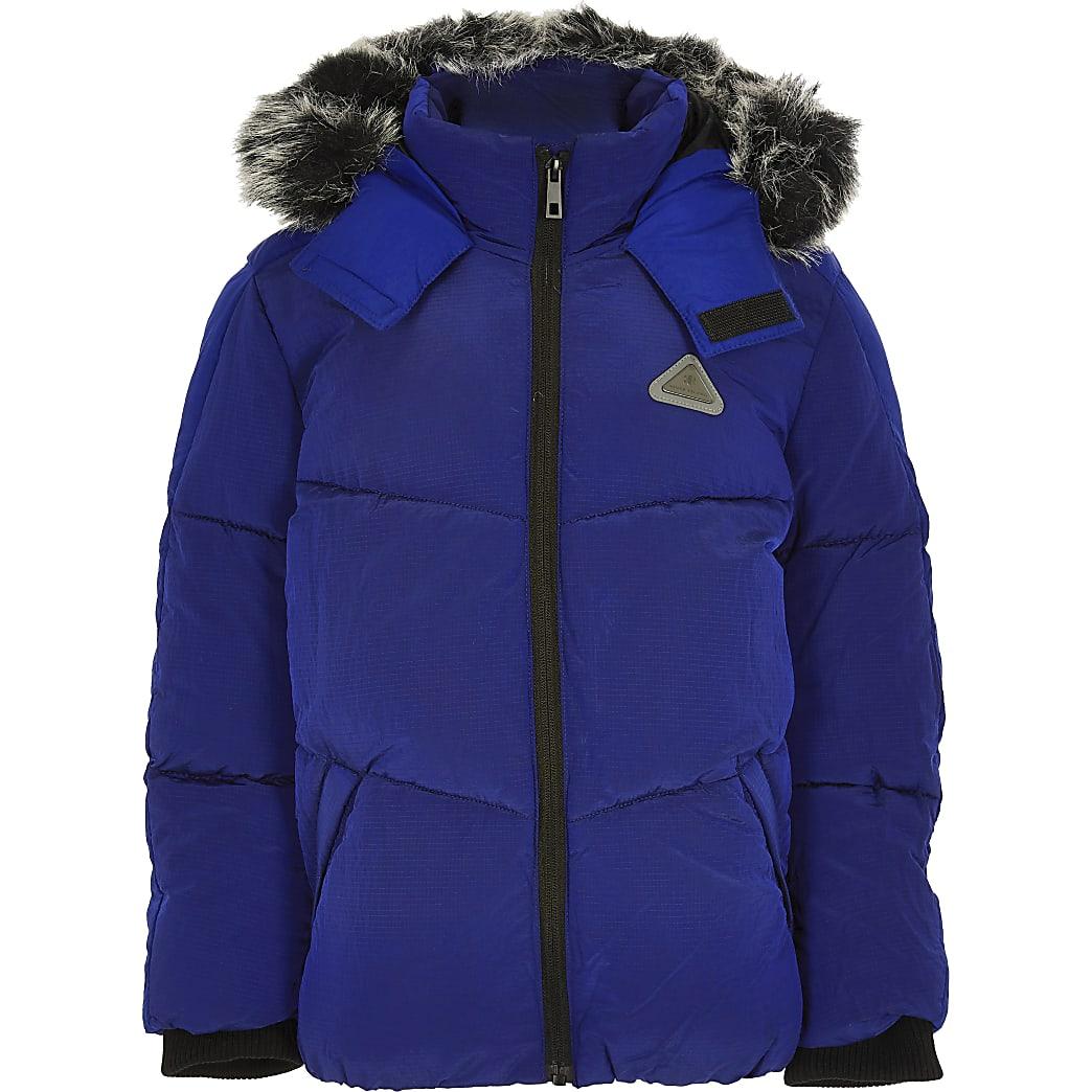 Boys blue padded jacket