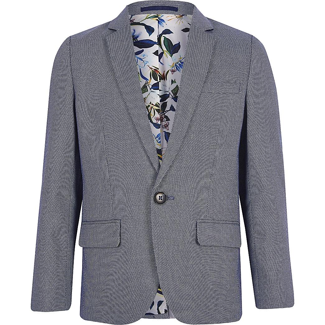 Boys blue pin dot blazer