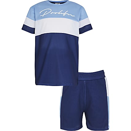 Boys blue Prolific colour blocked outfit