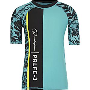 Prolific - Blauw zwem T-shirt met print voor jongens
