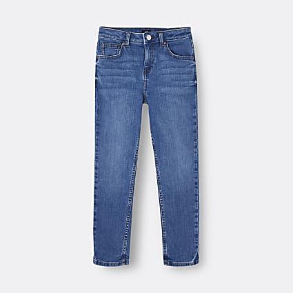 Boys blue regular fit jeans