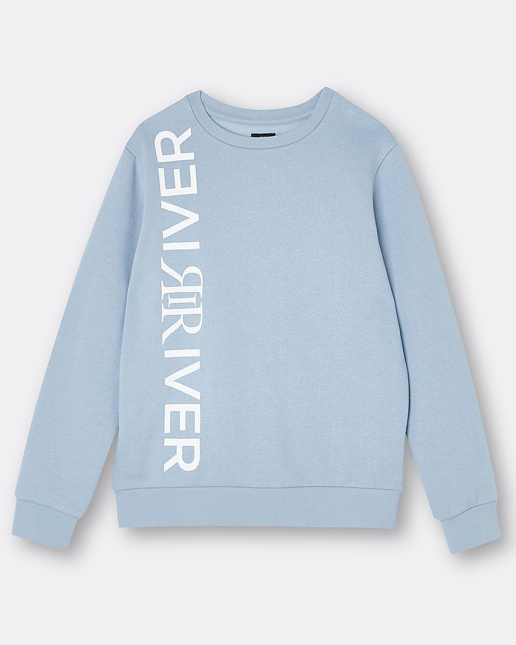 Boys blue River branded sweatshirt