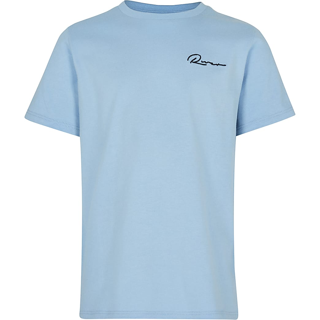 Boys blue 'River' t-shirt