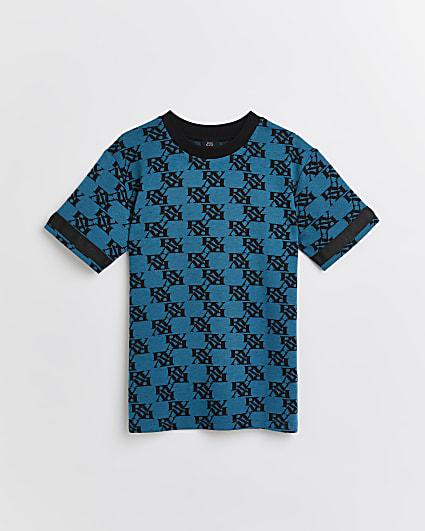 Boys blue RV monogram t-shirt
