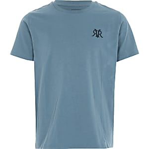 Boys blue RVR embroidered T-shirt