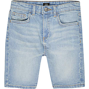Boys blue Sid skinny denim shorts