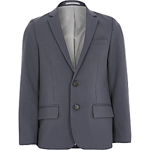 Blauwe single-breasted blazer voor jongens