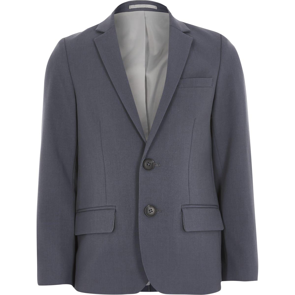 Blauwe single-breasted blazer voor jongens