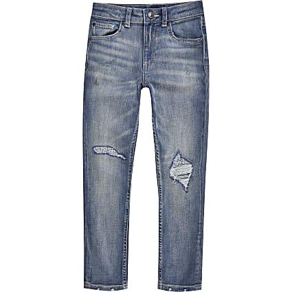 Boys blue skinny fit jean