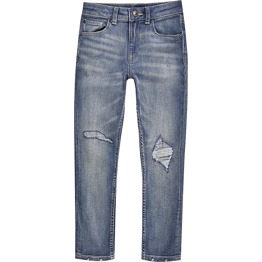 Boys blue skinny fit jeans