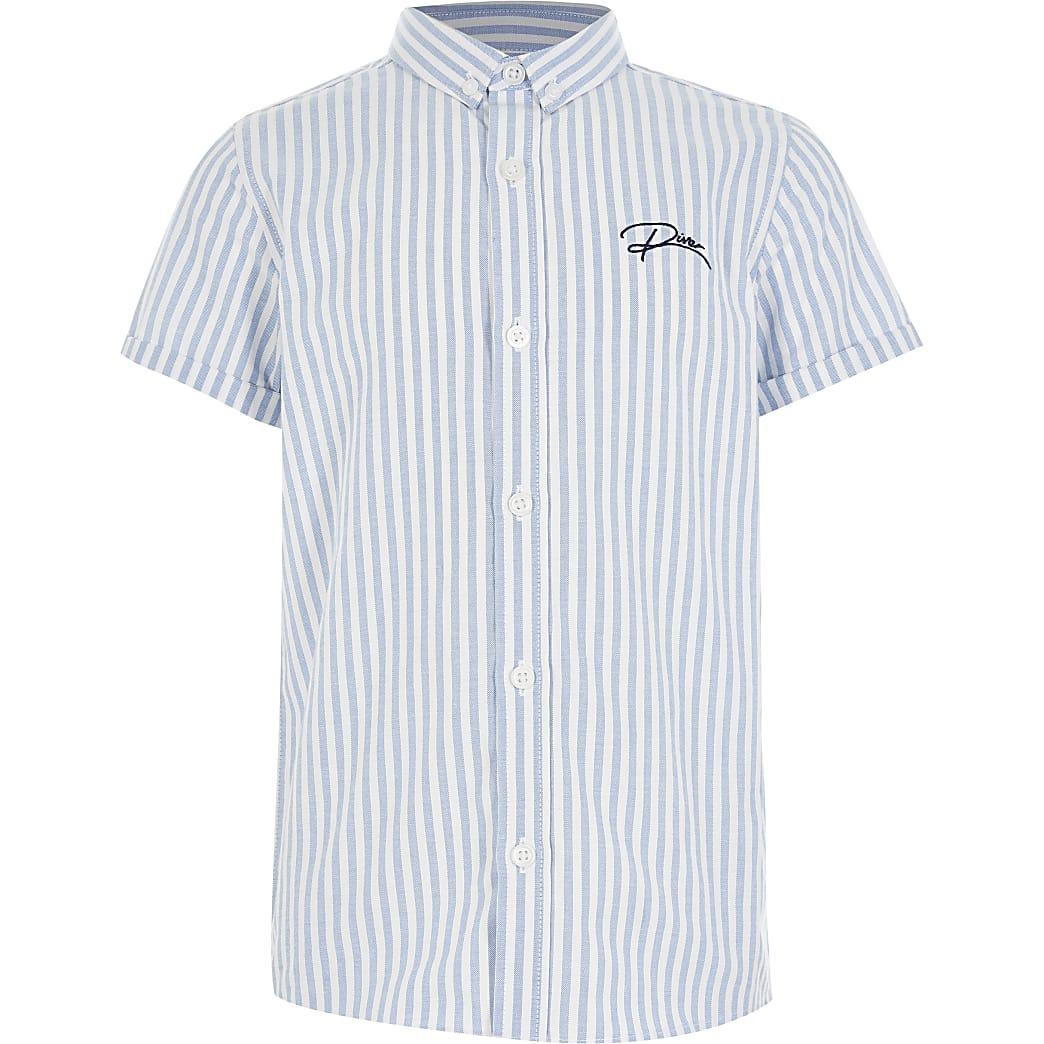 Blauw gestreept button down overhemd voor jongens